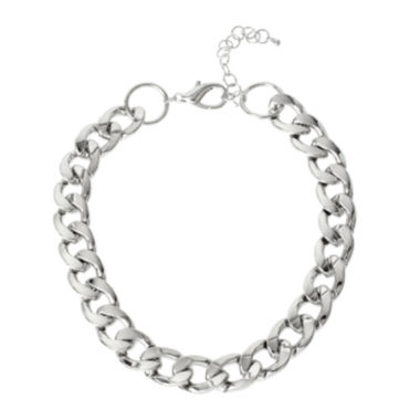 jcpenney.com | Worthington® Silver-Tone Curb Link Necklace