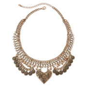 Decree® Two-Row Gold-Tone Bohemian Necklace