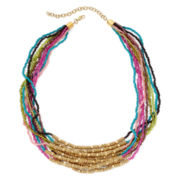 Mixit™ Multicolor Seed Bead Multi-Strand Necklace