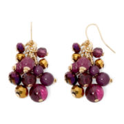 Mixit™ Purple Bead Cluster Earrings