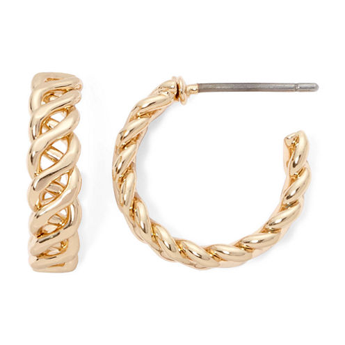 Monet® Gold-Tone Small Helix Hoop Earrings
