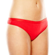 Ambrielle® Cotton Tailored Thong Panties