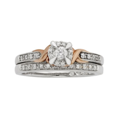 jcpenney.com | LIMITED QUANTITIES 1/4 CT. T.W. Diamond 10K Two-Tone Gold Bridal Ring Set
