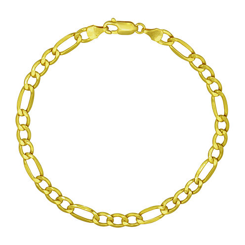 "Made in Italy 18K Yellow Gold 8½"" Figaro Bracelet"