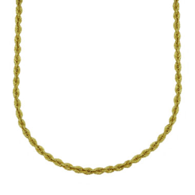 jcpenney.com | Majestique™ 18K Yellow Gold Rope Chain Necklace