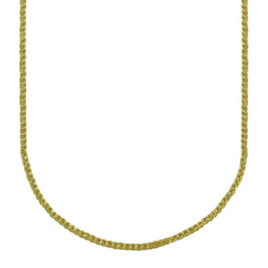 jcpenney.com | Majestique™ 18K Yellow Gold Hollow Wheat Chain Necklace