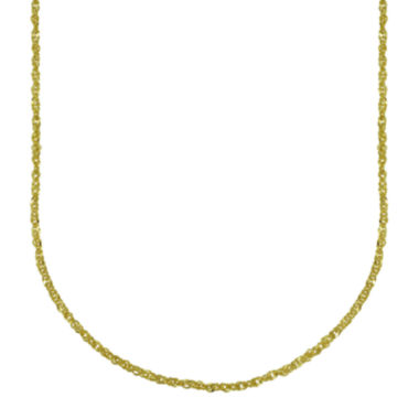 jcpenney.com | Majestique™ 18K Yellow Gold Hollow Perfectina Chain Necklace