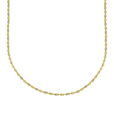 "jcpenney.com | Majestique™ 18K Two-Tone Gold 18"" Twist Chain Necklace"