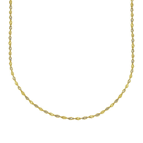 "Majestique™ 18K Two-Tone Gold 18"" Twist Chain Necklace"