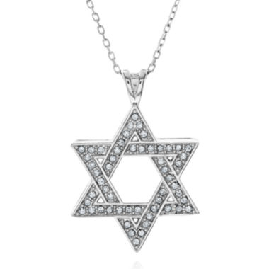 jcpenney.com | Crystal-Accent Sterling Silver Star of David Pendant Necklace