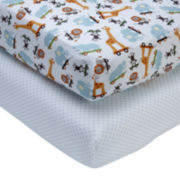 NoJo® Critter Pals 2-pk. Fitted Crib Sheet Set