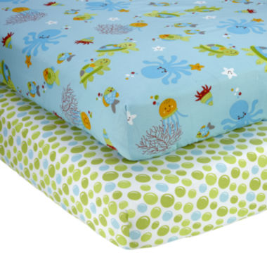 jcpenney.com | NoJo® Ocean Dreams 2-pk. Fitted Crib Sheet Set