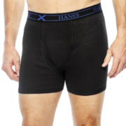 Hanes® 3-pk. X-TEMP® Cotton Short Leg Boxer Briefs