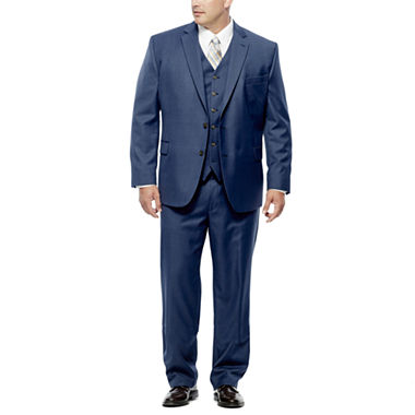 Stafford® Travel Mid Blue Suit Separates - Portly Fit - JCPenney