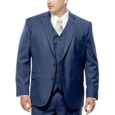 jcpenney.com | Stafford® Travel Medium Blue Suit Jacket - Portly Fit