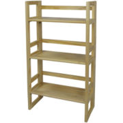 Folding 3-Shelf Student Bookcase