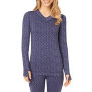 Cuddl Duds® FlexFit Long-Sleeve V-Neck T-Shirt
