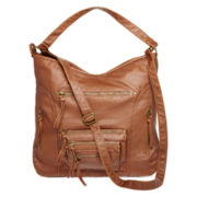 T-Shirt & Jeans™ Triple Zip Convertible Hobo Bag