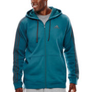 adidas® Essential Cotton Full-Zip Fleece Hoodie