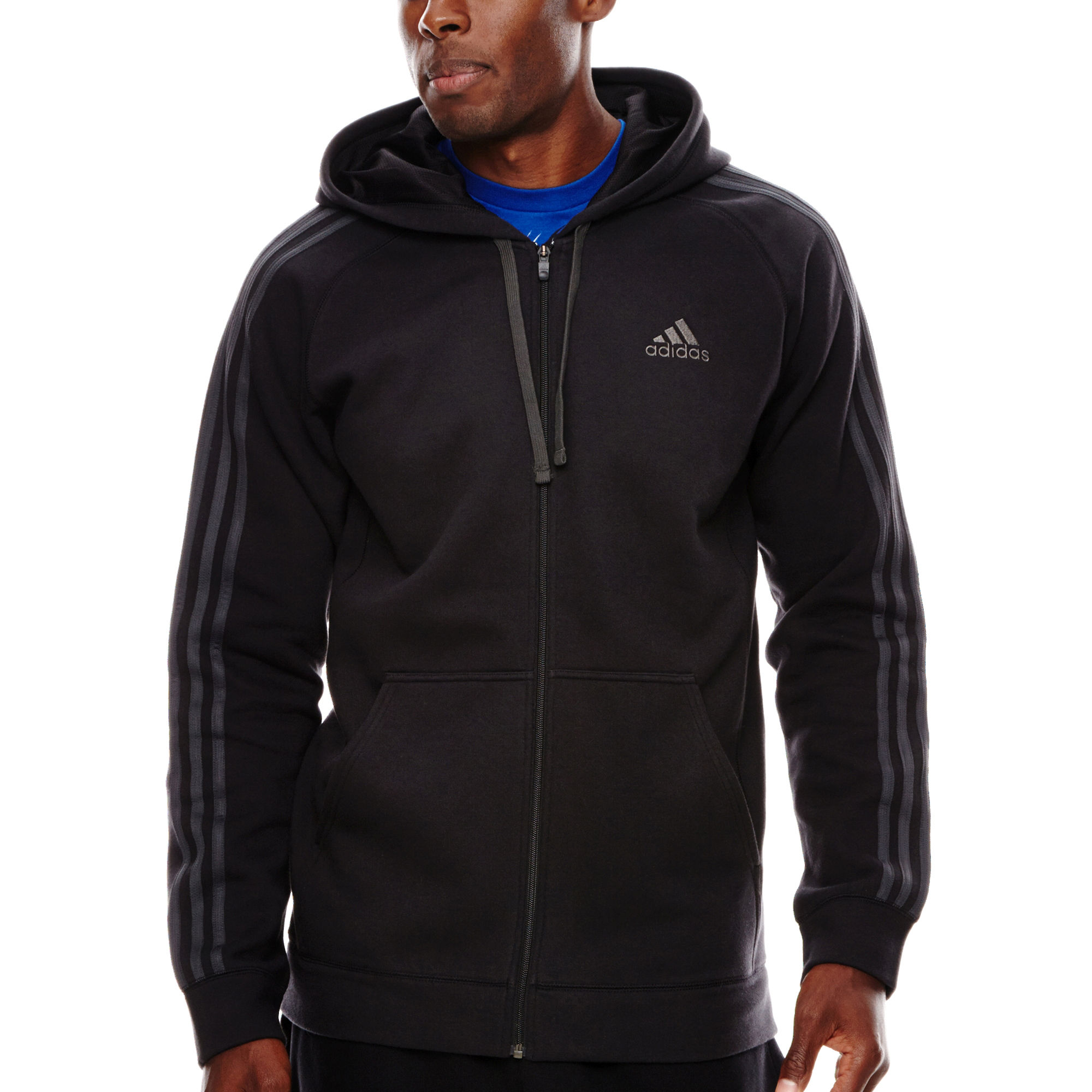 UPC 888590769077 - adidas Essential Cotton Full-Zip Fleece Hoodie ...