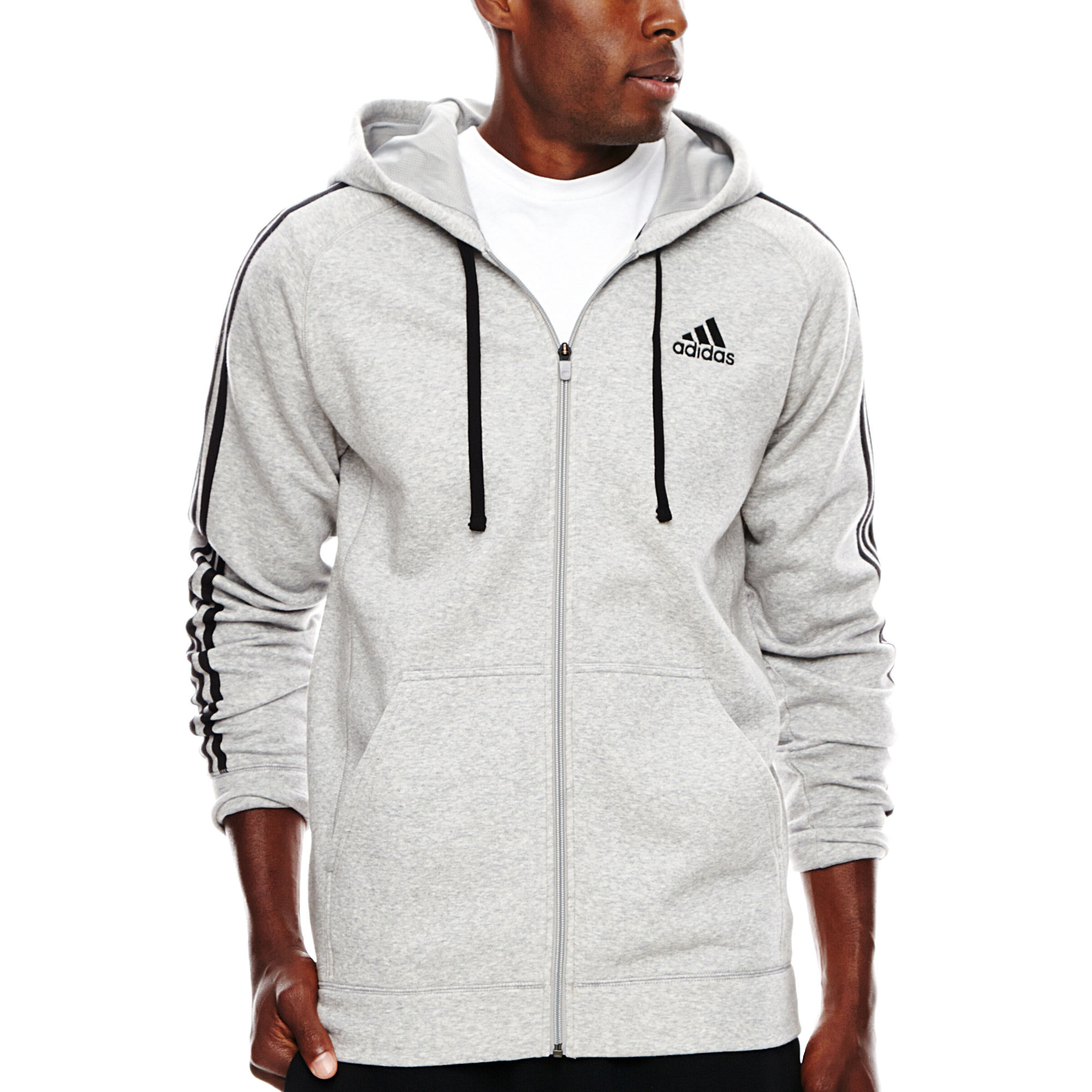 UPC 888590799425 - adidas Essential Cotton Full-Zip Fleece Hoodie ...