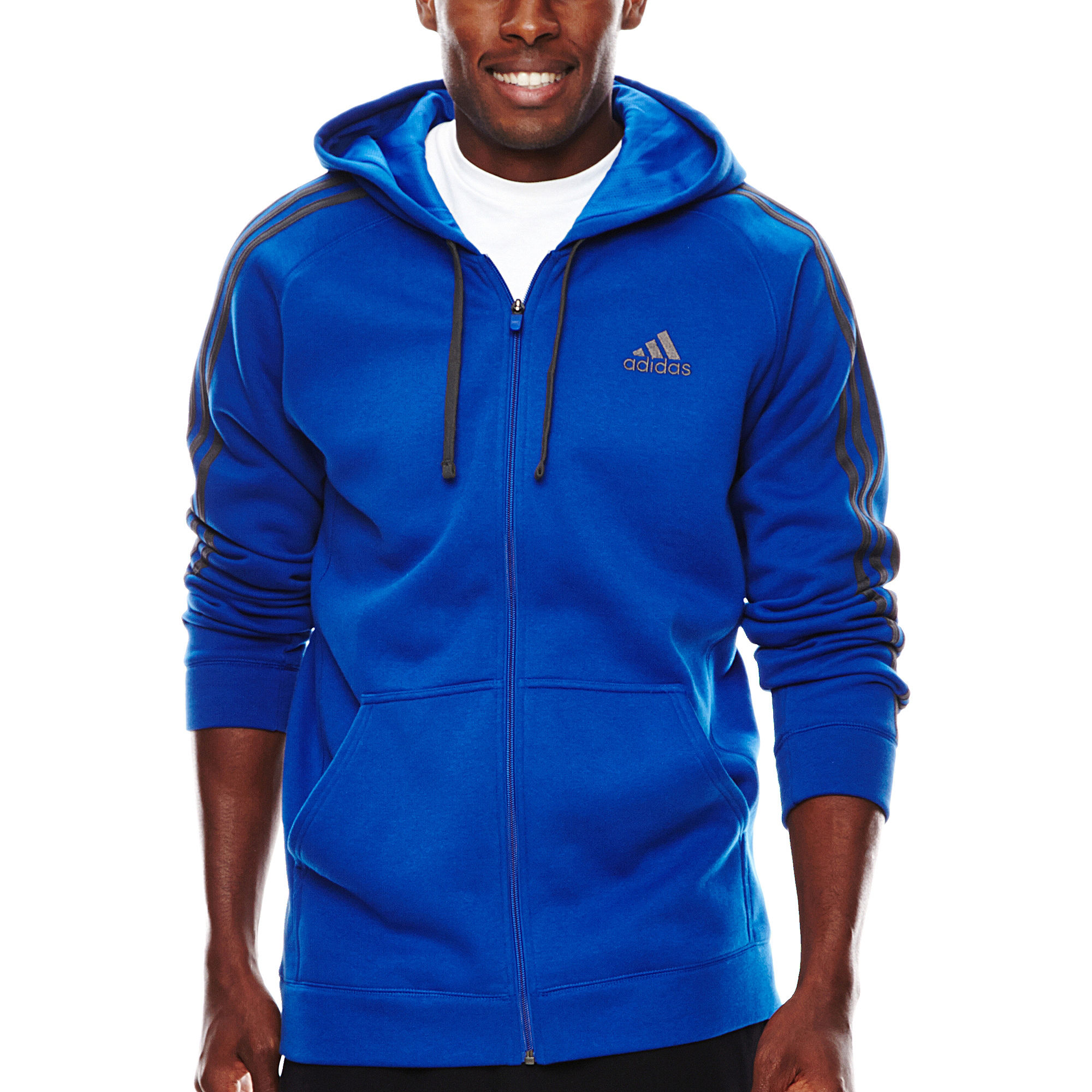 buy online c7c53 83361 UPC 888590538284 product image for adidas Essential Cotton Full-Zip Fleece  Hoodie  upcitemdb.