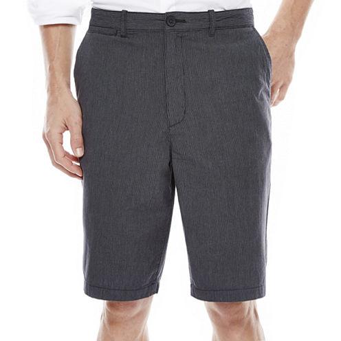 Claiborne® Flat-Front Cotton Shorts