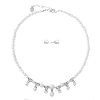 jcpenney.com | Monet Jewelry 2-pc. White Jewelry Set