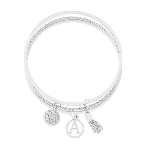 Liz Claiborne Silver Tone Charm Bracelet