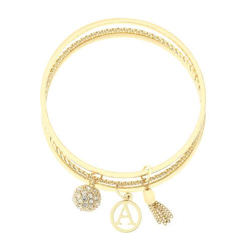 Liz Claiborne Womens Yellow Charm Bracelet