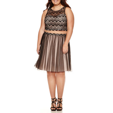 jcpenney.com | My Michelle® 2-pc. Sleeveless Floral Party Dress - Juniors Plus