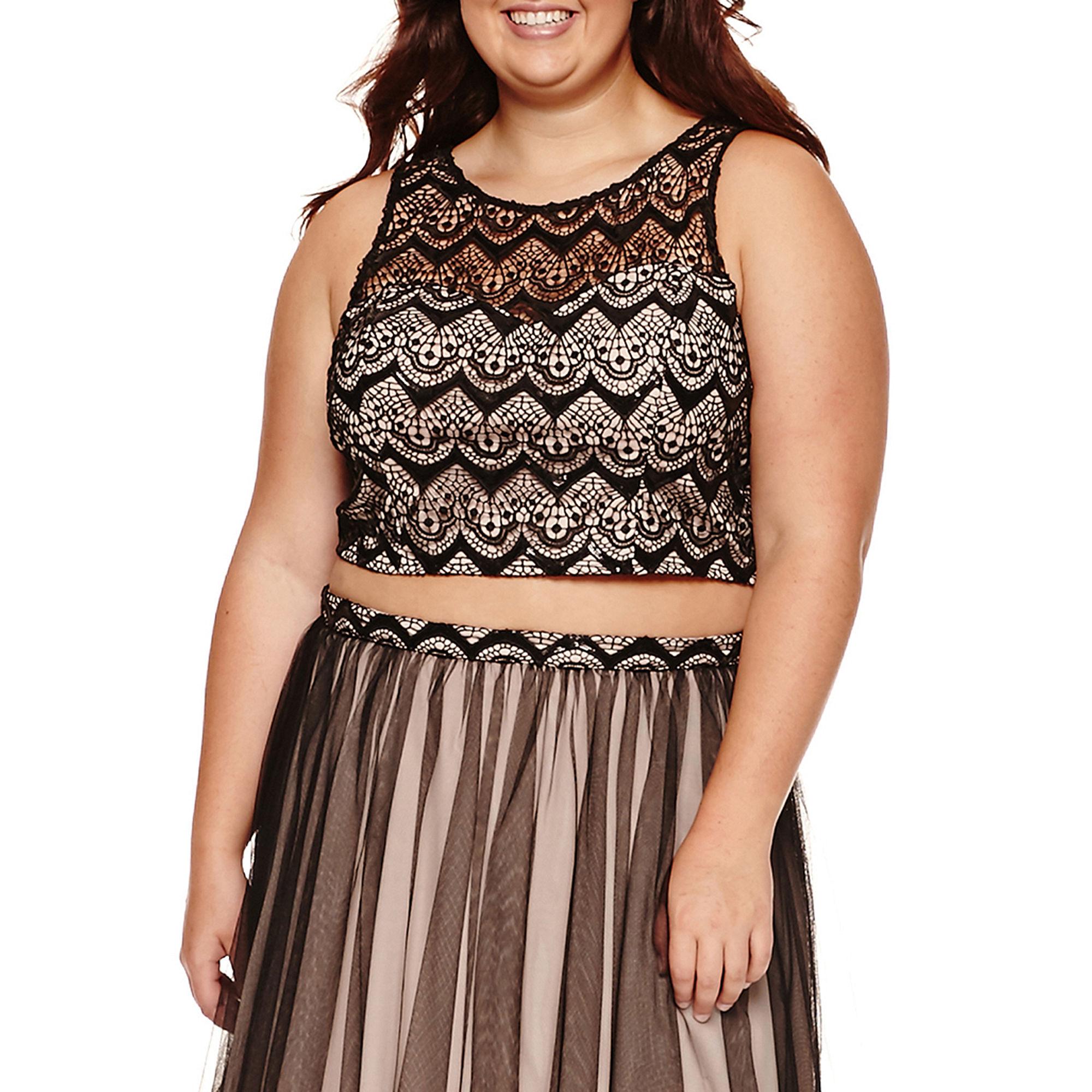 My Michelle 2-pc. Sleeveless Floral Party Dress - Juniors Plus plus size,  plus size fashion plus size appare