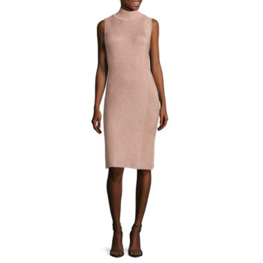 jcpenney.com | Worthington® Sleeveless Mockneck Rib-Stitch Dress