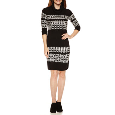 jcpenney.com | Studio 1® Long-Sleeve Cowlneck Sweater Dress