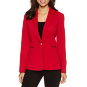 Chelsea Rose Long-Sleeve One-Button Notch-Collar Jacket