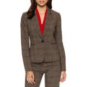 Chelsea Rose Long-Sleeve Plaid Tweed Jacket