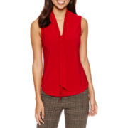 Chelsea Rose Sleeveless Bow Blouse