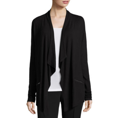 jcpenney.com | Worthington® Long-Sleeve Zip-Pocket Cardigan - Tall