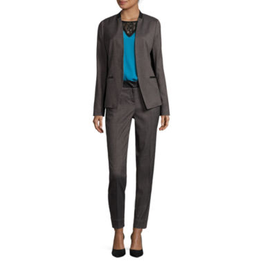 jcpenney.com | Worthington® Pleather-Trim Suit Blazer, Lace Blouse or Blocked Ankle Pants - Tall
