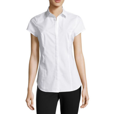 jcpenney.com | Worthington® Short-Sleeve Shirt - Tall