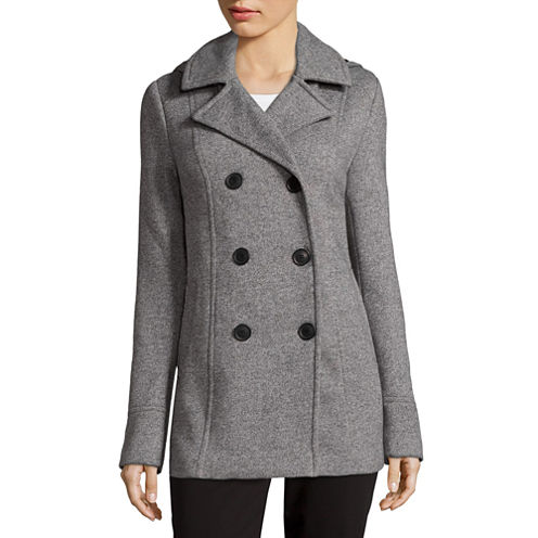 Liz Claiborne® Fleece Hooded Peacoat