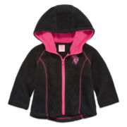 Us Polo Assn. Girls Midweight Fleece Jacket-Baby