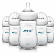 Philips Avent Natural 9 Ounce Baby Bottle - Set of 5