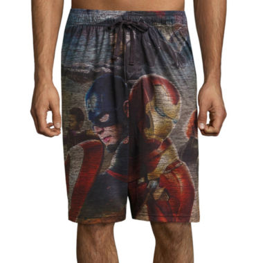 jcpenney.com | Marvel® Captain America Civil War Pajama Shorts