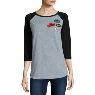 jcpenney.com | 3/4 Sleeve Scoop Neck Graphic T-Shirt