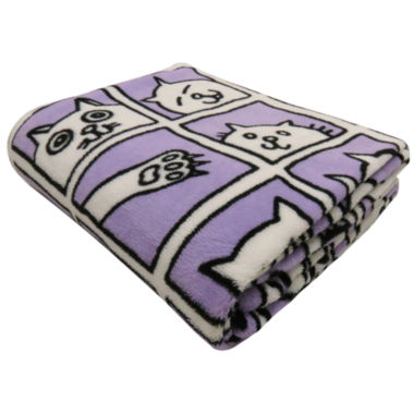 "jcpenney.com | P. B. Paws by Park B. Smith® 50"" x 60"" Cat Album Printed Fleece Throw"