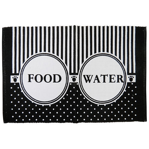 """P. B. Paws by Park B. Smith® 13"""" x 19"""" Food Water Cotton Pet Mat"""