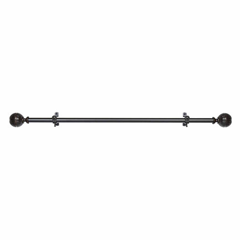 "Buono II ¾"" Adjustable Curtain Rod with Emerson Finial"