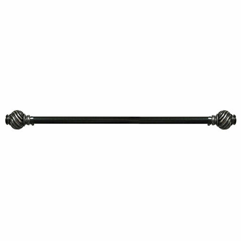 Majestic 1¼in Adjustable Curtain Rod with Caprice Finial