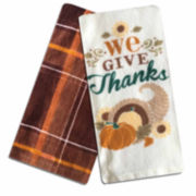 Homewear® We Give Thanks Set of 2 Kitchen Towels